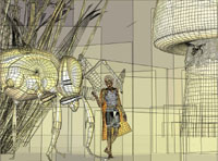 Faerie and Bee (wireframe)